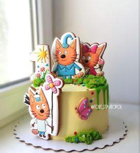 Три кота торт фото 018
