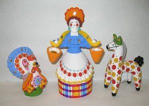 Узоры глиняных игрушек 015