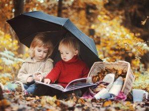 Фотосессия мамы и дочки осенью 008