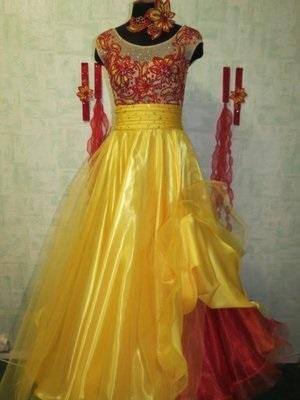 Фото бальных платьев для танцев 021