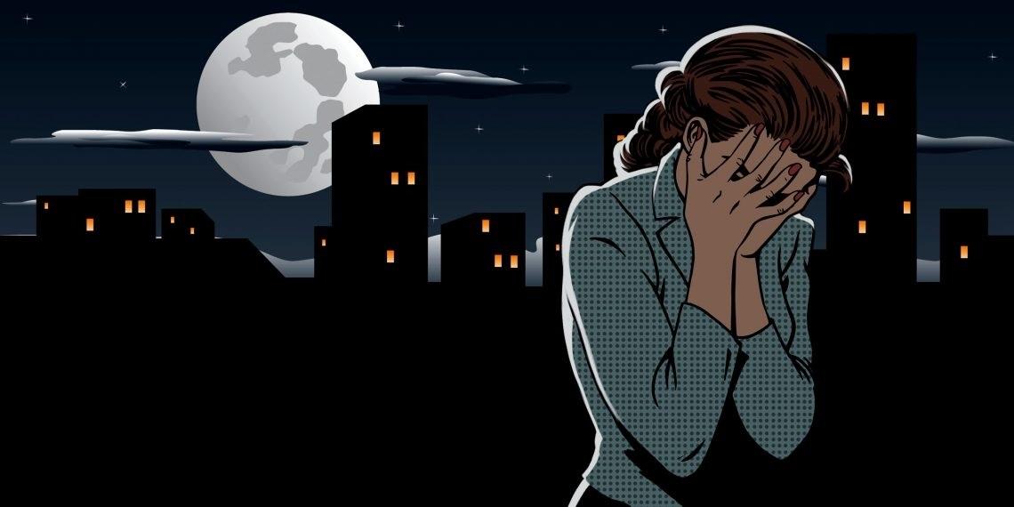 Фото девушки на улице в темноте 009