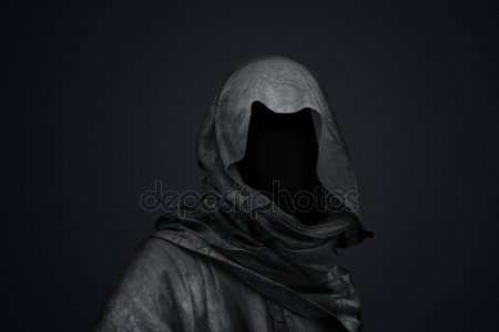 Фото человека в капюшоне без лица 020