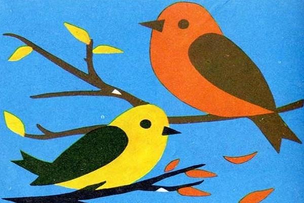 Шаблоны для аппликации птички 005