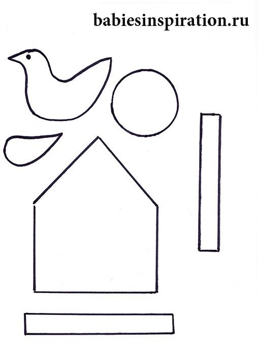 Шаблоны для аппликации птички 008