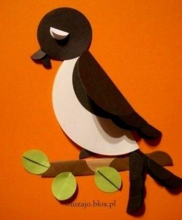 Шаблоны для аппликации птички 010
