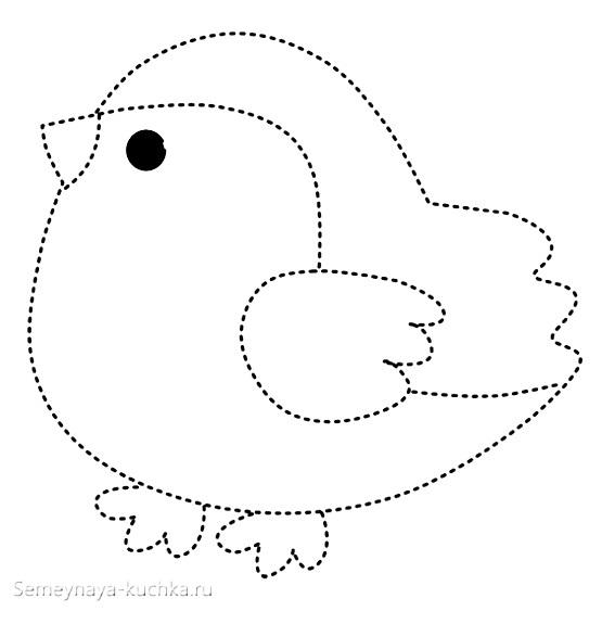 Шаблоны для аппликации птички 011