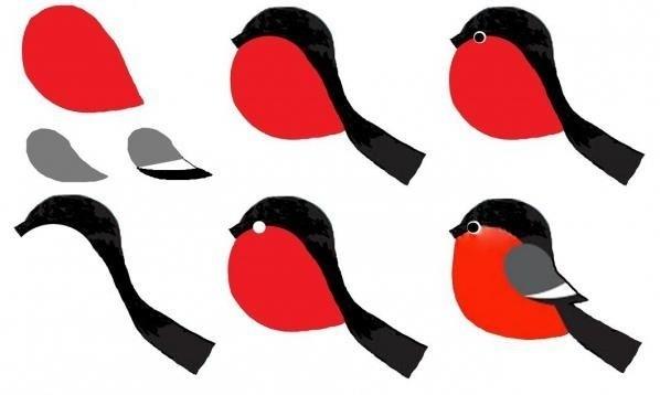 Шаблоны для аппликации птички 014