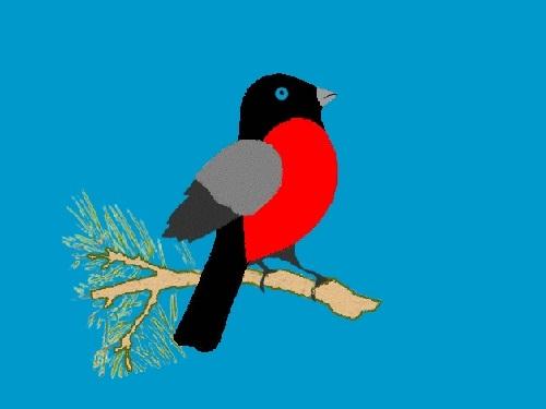 Шаблоны для аппликации птички 015