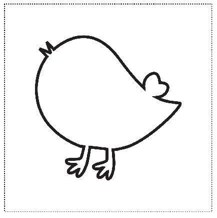Шаблоны для аппликации птички 017
