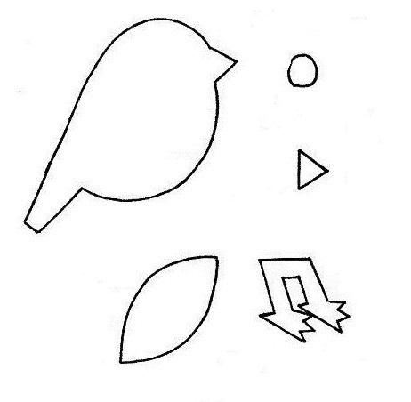 Шаблоны для аппликации птички 018