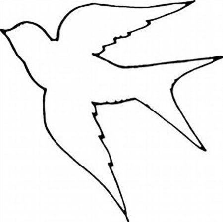 Шаблоны для аппликации птички 019