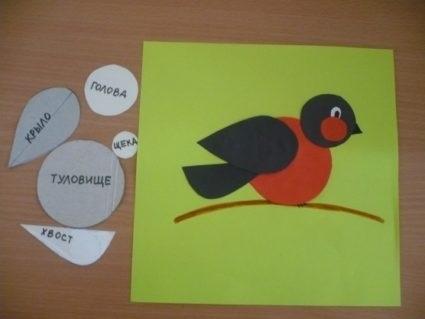 Шаблоны для аппликации птички 020