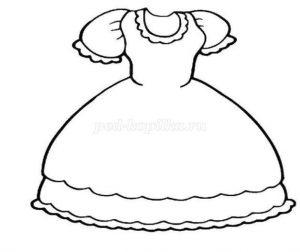 Шаблоны для рисования платья 014