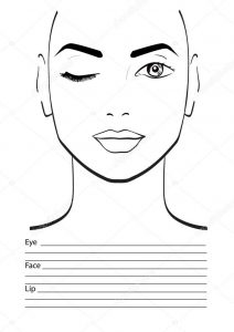 Шаблон для макияжа 005