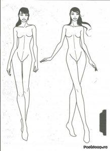Шаблон для рисования женщины 011
