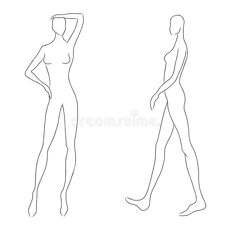 Шаблон для рисования женщины 012
