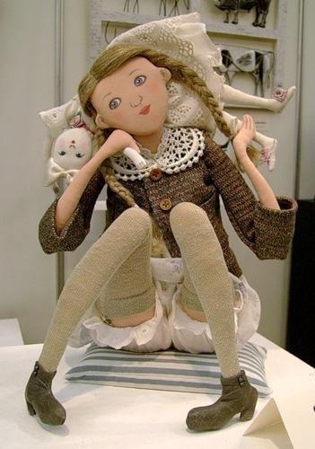 Шарнирные текстильные куклы 011
