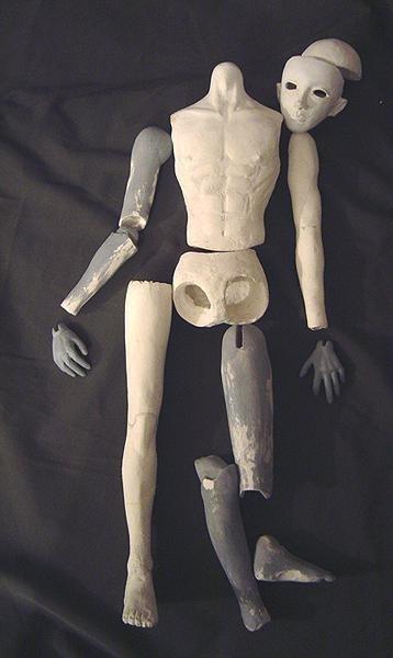 Шарнирные текстильные куклы 012