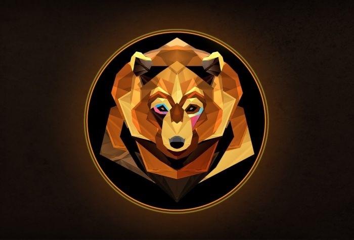 Эмблема медведь 010