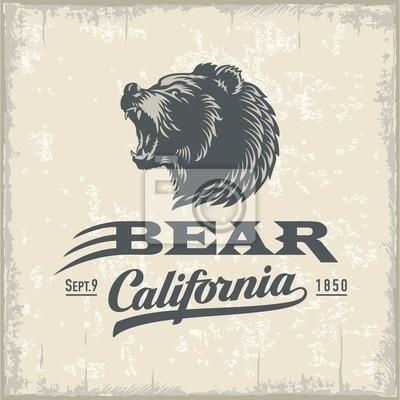 Эмблема медведь 012