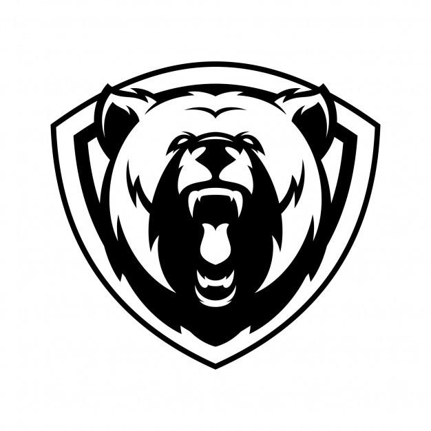 Эмблема медведь 014