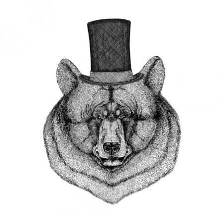 Эмблема медведь 016