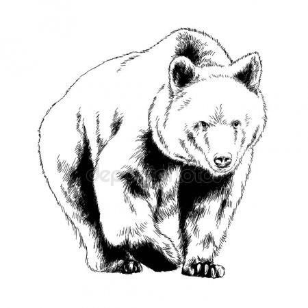 Эмблема медведь 017