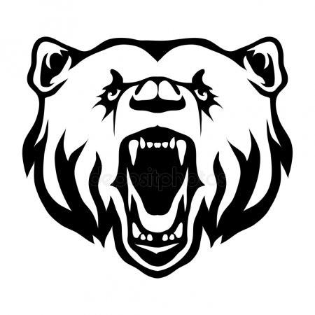 Эмблема медведь 019