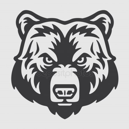 Эмблема медведь 020