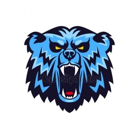 Эмблема медведь 021
