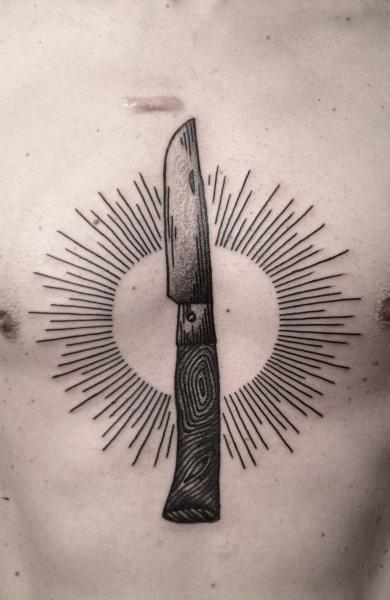 Эскизы на ноже 008