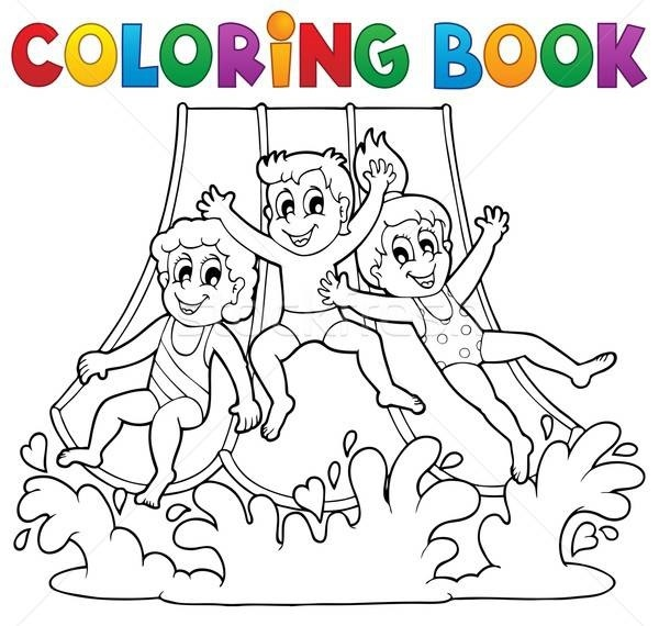 аквапарк рисунки для детей 020