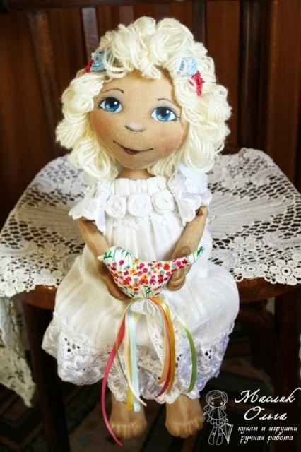 ангел кукла текстильная 007
