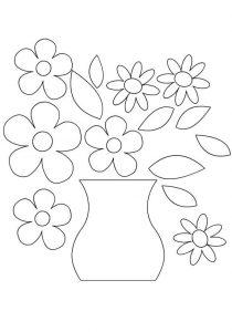 ваза трафарет для аппликации 003