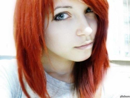волосы каре рыжие девушки 004