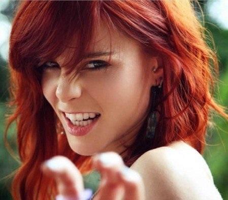 волосы каре рыжие девушки 006