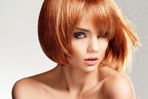 волосы каре рыжие девушки 007