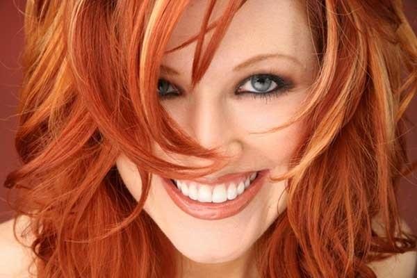 волосы каре рыжие девушки 008