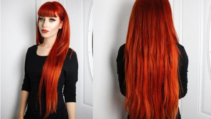 волосы каре рыжие девушки 010