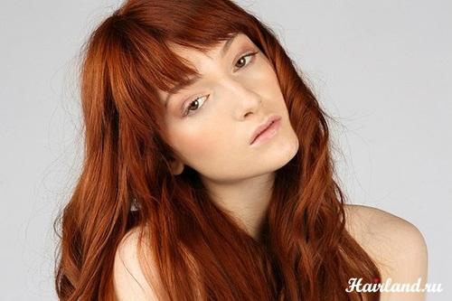 волосы каре рыжие девушки 011