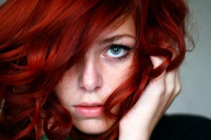 волосы каре рыжие девушки 012