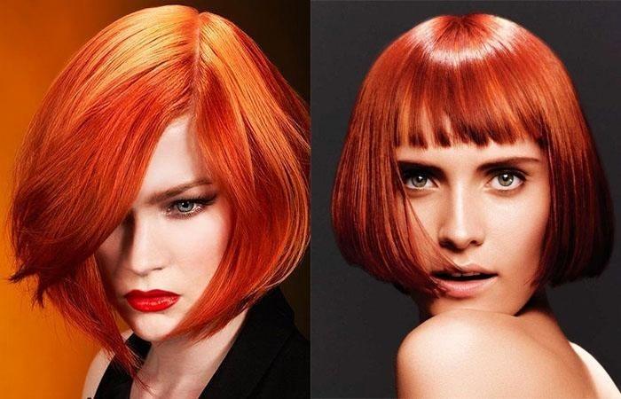 волосы каре рыжие девушки 014