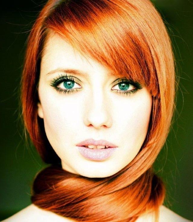 волосы каре рыжие девушки 016