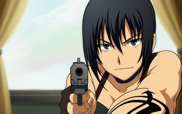 девушка аниме с пистолетом 010