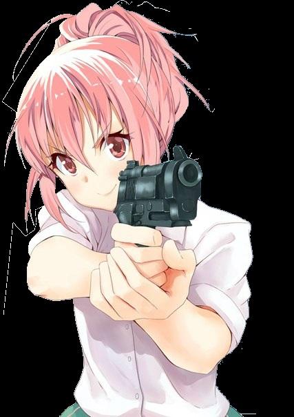 девушка аниме с пистолетом 014