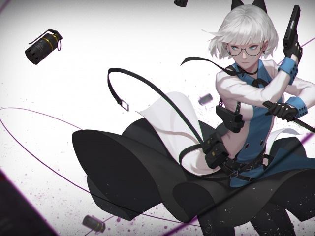 девушка аниме с пистолетом 015