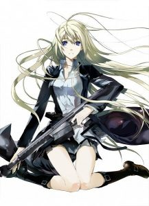 девушка аниме с пистолетом 016