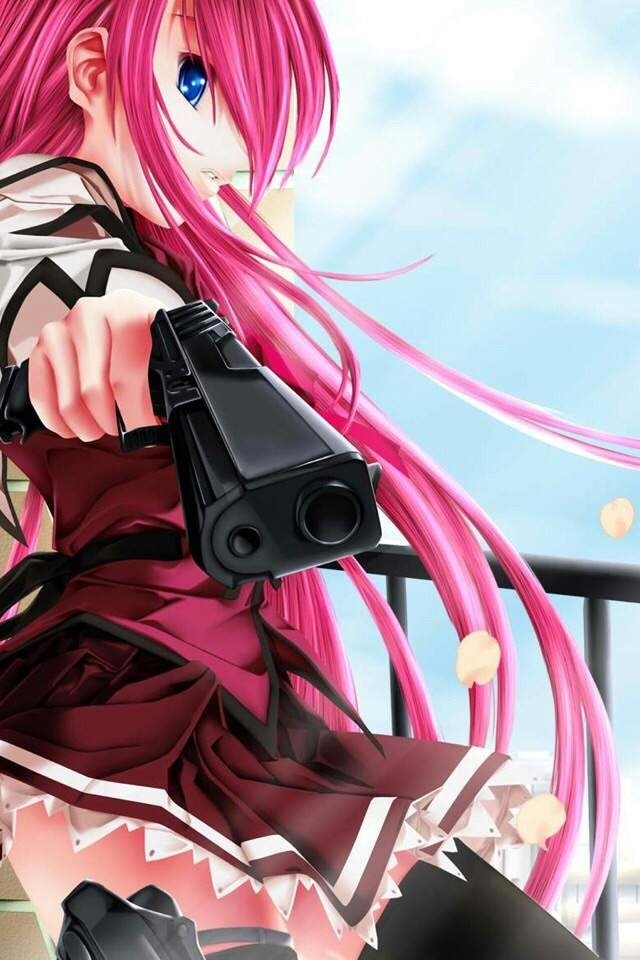 девушка аниме с пистолетом 021