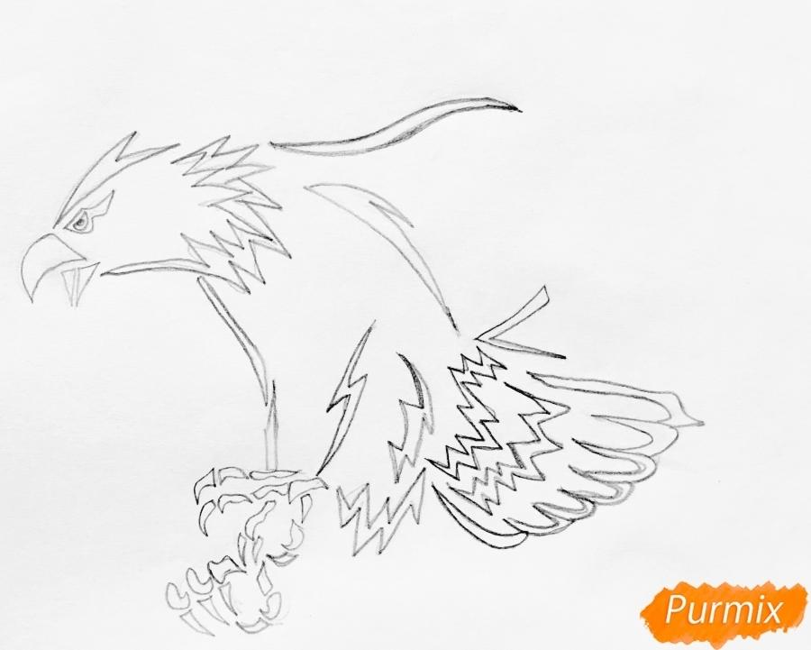 как нарисовать коршуна 012