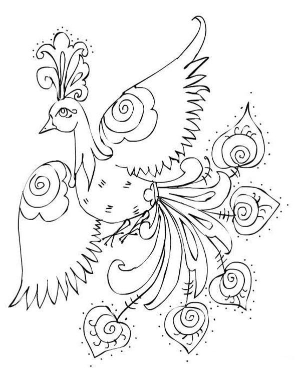 картинка жар птица для детей 011